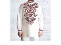 Заготовка чоловічої сорочки для вишивки бісером «Намисто Червоне»