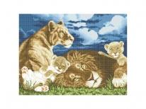 Схема вышивки бисером «Семейство львов» (40x45)