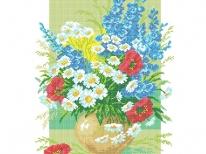 Схема вышивки бисером «Букет полевых цветов» (40x45)