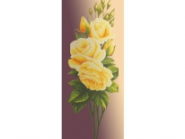 Схема вышивки бисером «Желтая роза на бежевом фоне» (40x100)