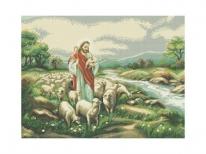Схема вышивки бисером «Добрый пастырь» (A1)