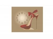 Схема вышивки бисером «Часы с туфелькой» (A3)
