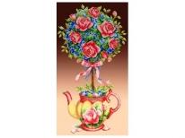 Схема вышивки бисером «Топиарий с розами» (30x60)