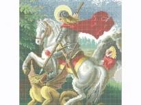 Схема вышивки бисером «Святой Георгий Победоносец» (40x45)