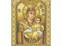 Схема вышивки бисером «Икона Божьей Матери» (A1)