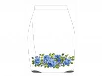 Заготовка женской юбки для вышивки бисером «Голубое цветочное разнообразие»