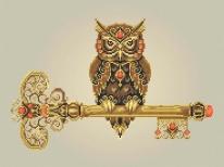 Схема вышивки бисером «Ключ мудрости» (A3)