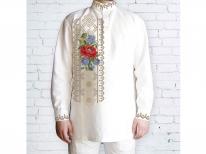 Заготовка мужской сорочки для вышивки бисером «561»