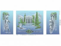 Схема вышивки бисером «Античный Храм» (40x100)