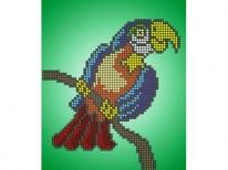 Схема вышивки бисером «Попугай» (A5)