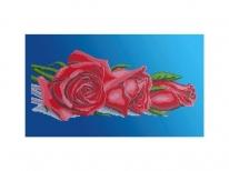 Схема вышивки бисером «Красные розы» (30x50)
