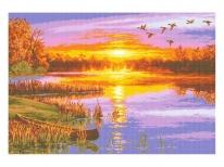 Схема вишивки бісером « Осінній захід сонця» (A1)