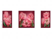 Схема вышивки бисером «Тюльпаны» (40x100)