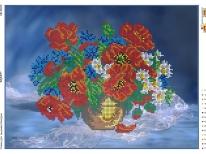 Схема вышивки бисером «Букет полевых цветов» (A3)