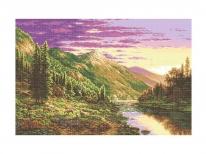 Схема вишивки бісером «Гірське пасовище» (A1)