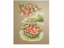 Схема вишивки бісером «Корзинка з яблуками» (A5)