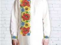 Заготовка чоловічої сорочки для вишивки бісером «Дарунок літа»
