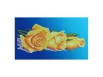 Схема вышивки бисером «Желтые розы» (30x50)