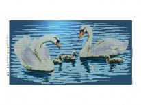 Схема вышивки бисером «Семья лебедей» (30x50)