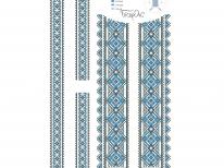 Вставки для детской сорочки «с-202 голубая»