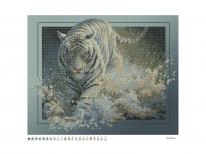 Схема вышивки бисером «Тигр в воде 6053» (40x45)