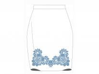 Заготовка женской юбки для вышивки бисером «Синий вечер»
