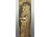Схема вышивки бисером «Жирафы» (30x60)