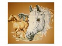 Схема вышивки бисером «Лошади 6058» (40x45)