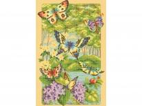 Схема вышивки бисером «Бабочки в лесу» (30x50)