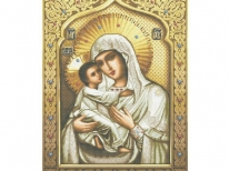 Схема вышивки бисером «Св Богородица Умиление» (A1)