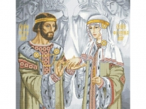 Схема вишивки бісером «Петро і Февронія Муромські» (A1)