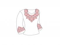 Заготовка женской блузы «Мотив 157 Ч»