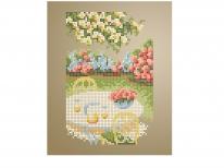 Схема вышивки бисером «Столик в саду» (A5)