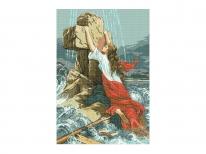 Схема вышивки бисером «Вера в Господа» (A1)