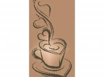 Схема вышивки бисером «Чашка кофе» (A3)