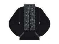 Заготовка мужской сорочки для вышивки бисером «552 Серая»