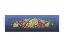 Схема вышивки бисером «Желтые розы»  синий фон (30x100)