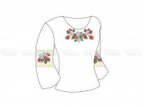 Заготовка женской блузы «Клубнички» РАСПРОДАЖА