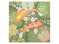 Схема вышивки бисером «Золотые Рыбки» (40x45)