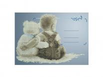 Схема вишивки бісером «Мій улюблений ведмедик (метрика для хлопчика)» (A4)
