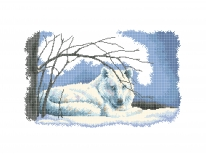 Схема вышивки бисером «Белый волк» (40x45)