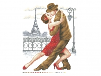 Схема вышивки бисером «Танго /Париж/» (40x45)