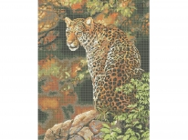Схема вишивки бісером «Леопард 7055»   (A2)