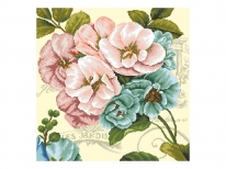 Схема вишивки бісером «Вінтажні квіти 2» (50х50)
