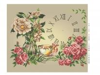 Схема вишивки бісером «Годинник з трояндами»   (A2)