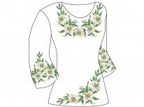 Заготовка женской туники для вышивки бисером  «Лилии 138»