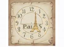 Схема вишивки бісером «Годинник Париж» (40x45)