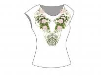 Заготовка женской блузы без рукавов для вышивки бисером «Хризантемы»