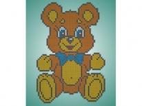 Схема вышивки бисером «Плюшевый мишка» (A5)