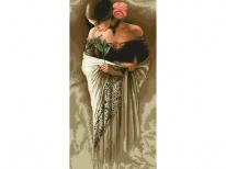 Схема вишивки бісером «Іспанка з розою» (40x100)